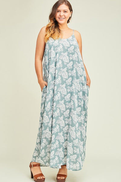 Tropical Adventure Maxi in Seafoam