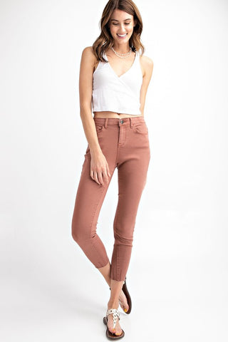 Let's Go Jeggings in Dried Rose