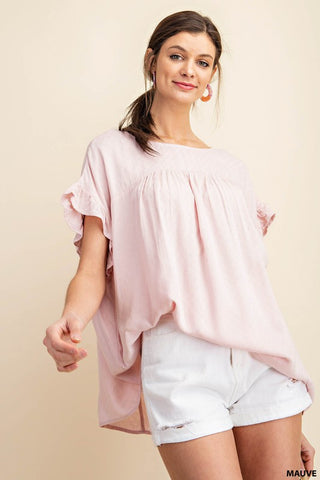 One More Chance Top in Blush