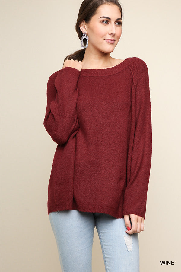 Weekender Sweater in Burgundy