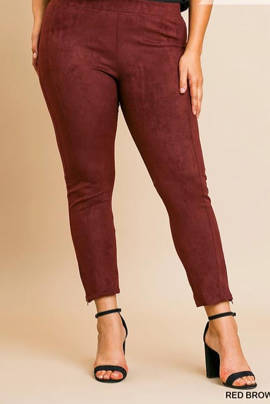 One Step At A Time Suede Pant