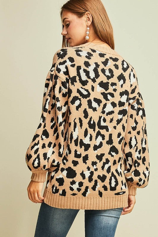 Wildest Dreams Leopard Print Sweater