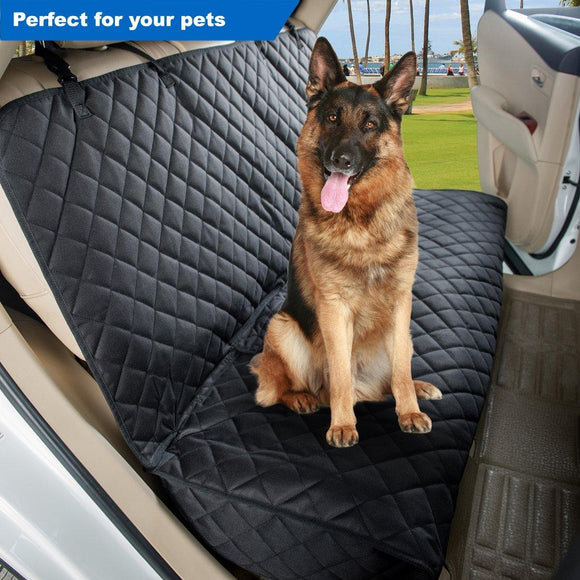 Bench Car Seat Cover Protector - Waterproof, Heavy-Duty and Nonslip Pet Car Seat Cover for Dogs with Universal Size Fits for Cars, Trucks & SUVs
