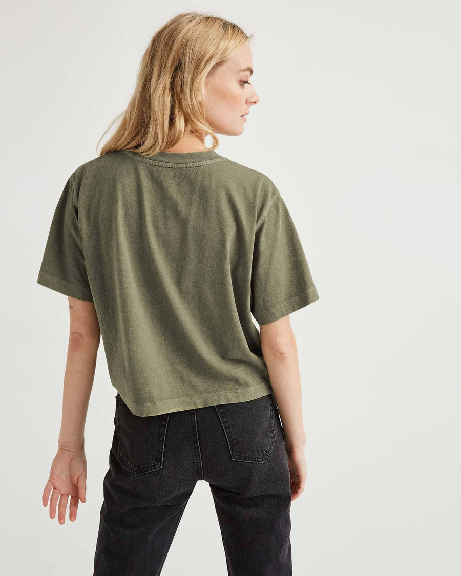 SHORT SLEEVE CROP TEE GREEN