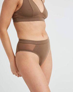 Richer Poorer high cut brief underwear cub brown | Pipe and Row boutique seattle