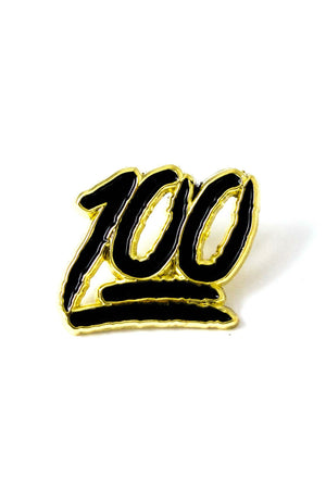HUNDRED ENAMEL PIN