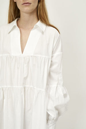 Just Female Brandy Maxi white tent dress organic cotton | Pipe and Row boutique