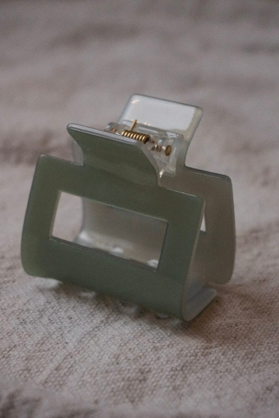 Small square hair claw acryclic seafoam mint green | Pipe and row