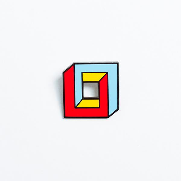 3d square poketo enamel pin | pipe and row
