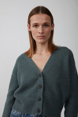 REBELO KNIT CARDIGAN GREEN