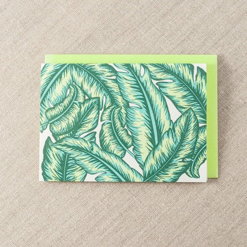 PALM LEAVES CARD