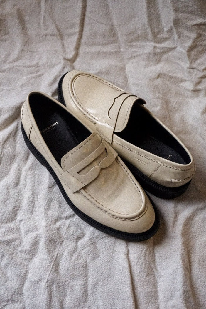 Vagabond Alex W off white penny loafer | Pipe and Row boutique Shop small Seattle