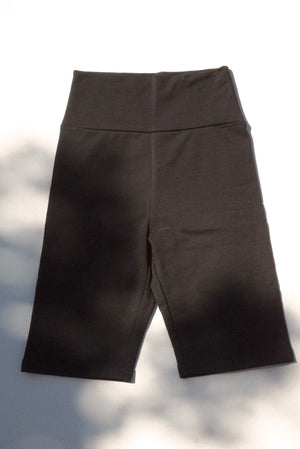 HIGH WAIST BIKE SHORTS BLACK