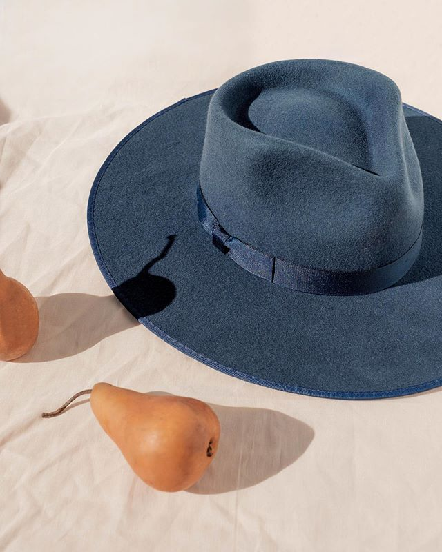 Lack of Color Navy Rancher wide brimmed wool fedora hat | Pipe and Row