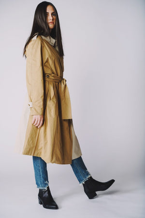TWO TONED TRENCH COAT
