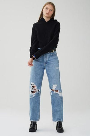 90's loose fit denim fall out agolde | pipe and row