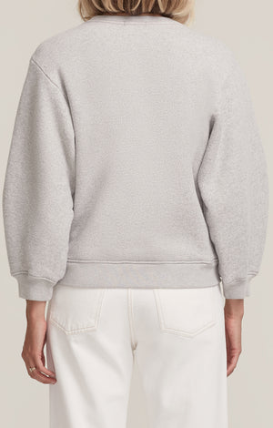 Agolde Thora cropped sweatshirt balloon heather grey | pipe and row boutique