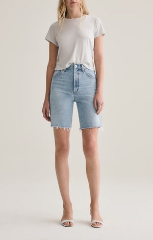 PINCH WAIST HIGH RISE SHORT OASIS