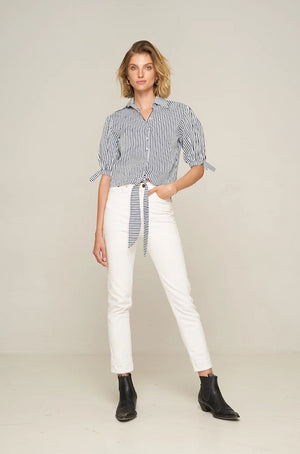 Rue Stiic Doris stripe crop top | pipe and row