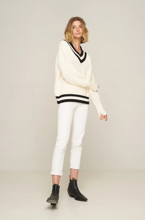 Rue Stiic Ryan varsity style sweater | pipe and row