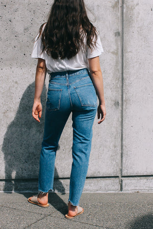 high waisted Jamie classic denim arrival organic cotton agolde | pipe and row