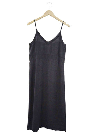 Alma slip dress black tar Lacausa | pipe and row seattle