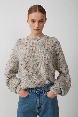 Just Female Almine loose Knit natural funfetti | Pipe and row boutique