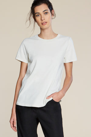 Filosofia Ariana white cloud perfect tee t-shirt top buttery cotton | pipe and row boutique
