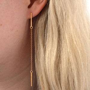 FRESH TANGERINE BAR DRIP EARRINGS GOLD | PIPE AND ROW