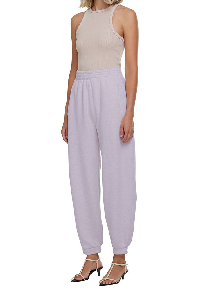Agolde balloon curved leg sweatpants jelly bean light purple | pipe and row