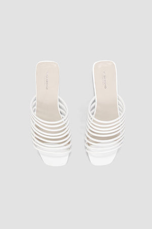 Vagabond Becky strappy white leather sandals | pipe and row