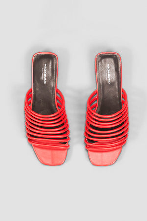 Vagabond Becky strappy red leather sandals | pipe and row boutique seattle