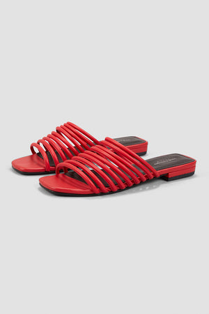 Vagabond Becky strappy red leather sandals | pipe and row