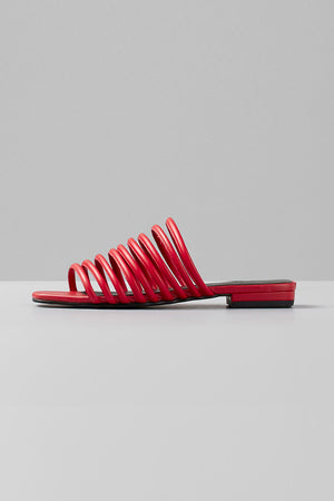 Vagabond shoes Becky strappy red leather sandals modern summer | pipe and row