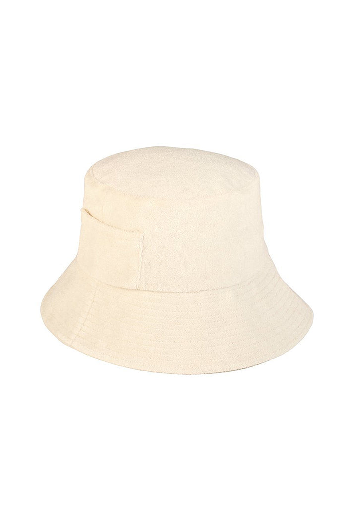 Lack of Color Wave bucket hat beige cream terry | pipe and row seattle boutique