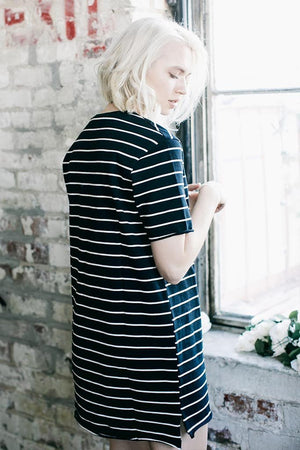 KNOT SISTERS SLOUCHY TEE DRESS fall | PIPE AND ROW