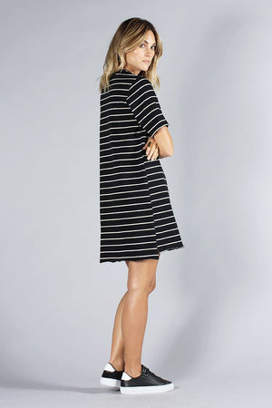 KNOT SISTERS SLOUCHY TEE DRESS stripes | PIPE AND ROW