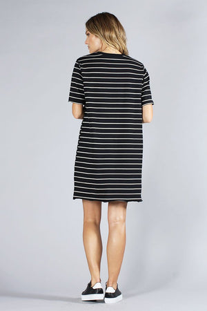 KNOT SISTERS SLOUCHY TEE DRESS womens | PIPE AND ROW