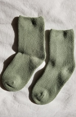 Le Bon Shoppe cozy terry  Cloud socks light match green | Pipe and Row