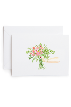 watercolor greeting card gift of flowers good sheila | pipe and row