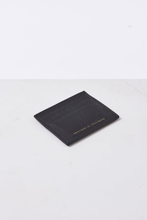 soft leather card wallet ampersand as apostrophe black | pipe and row