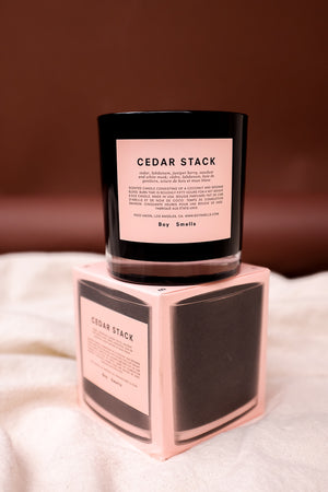 BOY SMELLS CEDER pink best selling STACK CANDLE | PIPE AND ROW