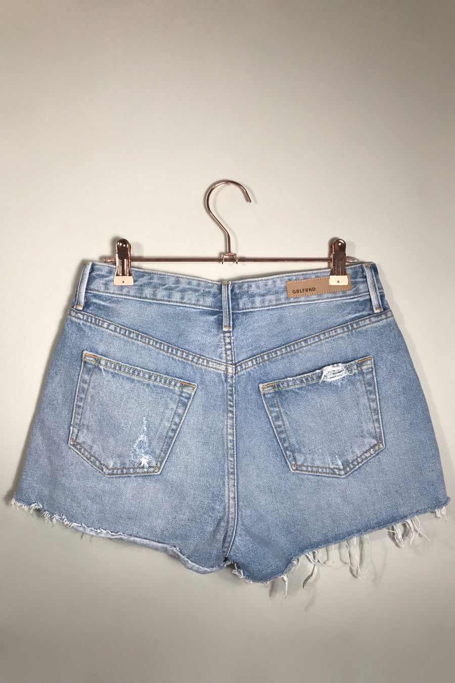 Cindy High rise denim shorts silly little love games grlfrnd | pipe and row