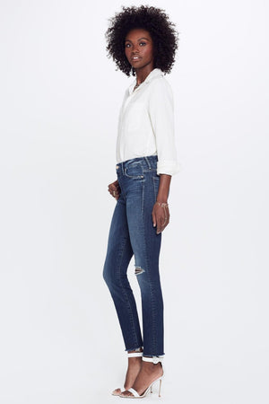 Mother Denim high waisted looker close to the edge blue wash | Pipe and Row