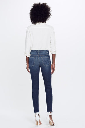 Mother Denim high waisted looker skinny jean close to the edge wash | Pipe and Row
