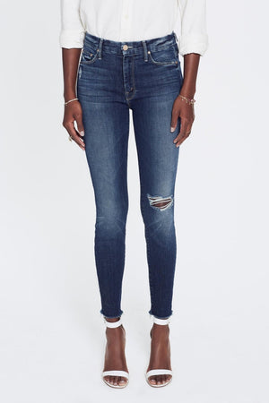Mother Denim high waisted looker in close to the edge wash | Pipe and Row boutique Seattle