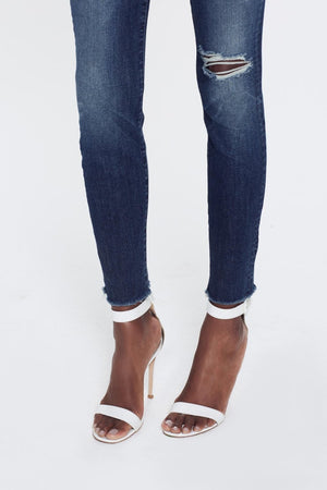Mother Denim high waisted looker in close to the edge distressed wash | Pipe and Row
