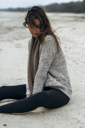 RUE STIIC COLLAROY SWEATER WHITE SAND | PIPE AND ROW
