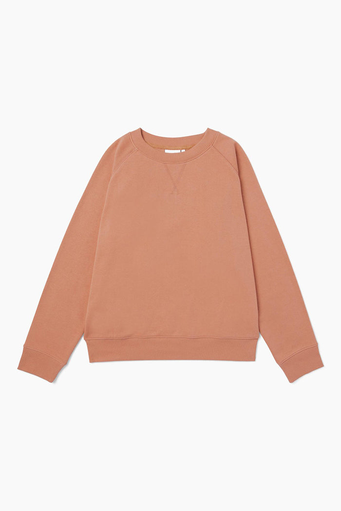Richer Poorer recycled classic crewneck fleece sweatshirt clay | Pipe and Row
