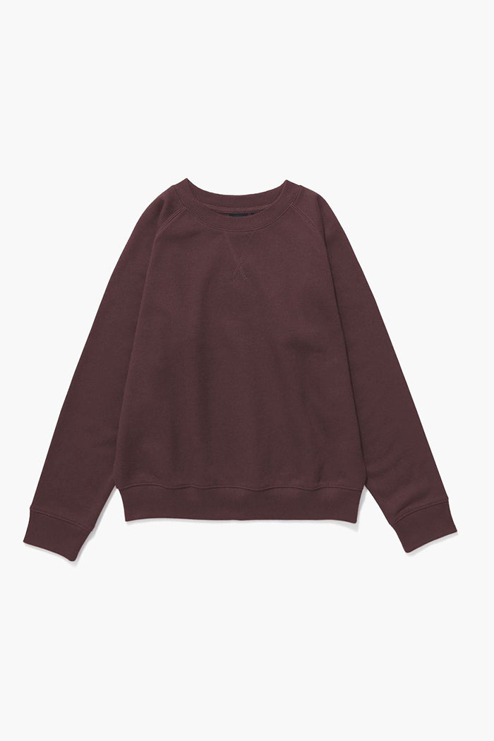 Richer Poorer crewneck recycled fleece sweatshirt truffle chocolate brown | Pipe and Row
